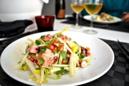 Salade de poulpe à la grenade